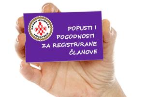 Popusti i pogodnosti za registrirane članove
